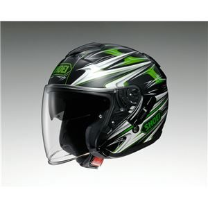 その他 ジェットヘルメット シールド付き J-CRUISE CLEAVE TC-4 グリーン/ブラック XL 【バイク用品】 ds-1443088