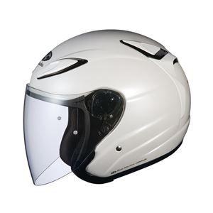 その他 AVAND2 ジェットヘルメット シールド付き パールホワイト M 【バイク用品】 ds-1444198