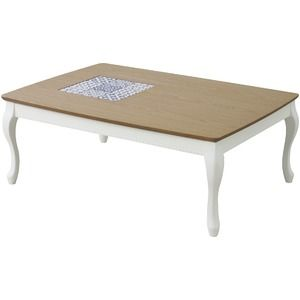 その他 リビングこたつテーブル(アリス) 長方形(105cm×75cm) 本体 木製 KT-101WH ホワイト(白) ds-1447866