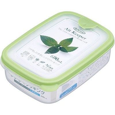 岩崎工業 保存容器 エアキーパーフードケースS グリーン 600ml A-030 SG【60個セット】 4901126003035【納期目安:1週間】