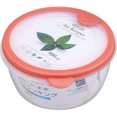 岩崎工業 保存容器 エアキーパー どんぶり オレンジ A-038 SO【60個セット】 4901126003844【納期目安:1週間】