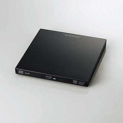 ロジテック Blu-rayディスクドライブ/USB3.0/スリム/再生&編集ソフト付/typeCコネクタ付/ブラック LBD-PVA6UCVBK