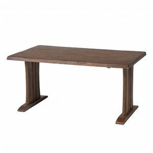 その他 ダイニングテーブル 【栞 (SHIORI)】 木製 長方形(幅140cm×奥行80cm) DBR ダークブラウン ds-795972