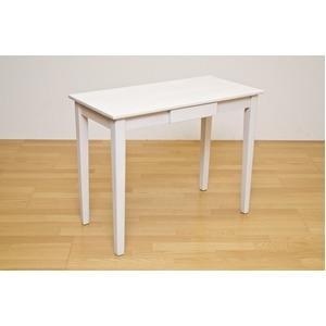 その他 木製テーブル 【長方形 90cm×45cm】 引出し1杯付き ホワイトウォッシュ 木目調 〔リビング/ダイニング/作業台〕 ds-1258302