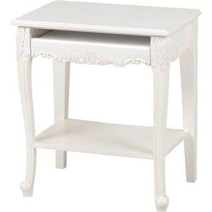 その他 パソコンテーブル 木製 アンティークホワイト 『ヴィオレッタシリーズ』  ds-1314237