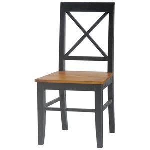 その他 ダイニングチェア(リビングチェア/椅子) 木製 座面高43cm シャビーシック ブロカントシリーズ ブラック(黒)【代引不可】 ds-1315331