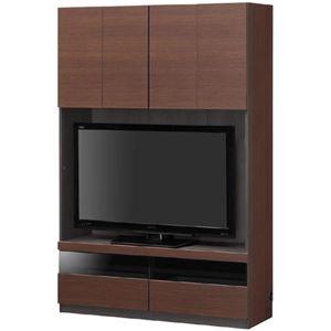 その他 壁面テレビ台/テレビボード 【幅120cm】 ブラウン 日本製 『PORTALE ポルターレ』 ds-1408457