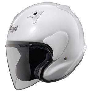 その他 ジェットヘルメット シールド付き MZ-F グラスホワイト 59-60 【バイク用品】 ds-1443317