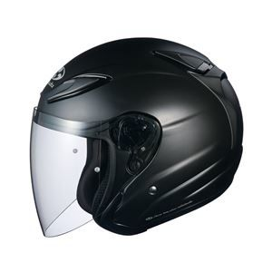 その他 AVAND2 ジェットヘルメット シールド付き フラットブラック S 【バイク用品】 ds-1444211