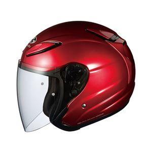 その他 AVAND2 ジェットヘルメット シールド付き シャイニーレッド S 【バイク用品】 ds-1444216