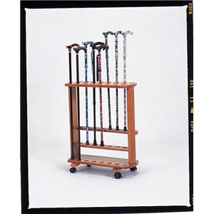 その他 ステッキスタンド/杖立て 木製(天然木) 幅51cm×奥行23cm 豊通オールライフ (歩行補助用品/介護用品) ds-1450828