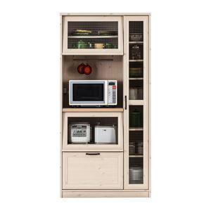 その他 ユーアイ NEO MARCH(マーチ) 食器棚90 天板天然パイン材 K-900HOP【代引不可】 ds-1477509