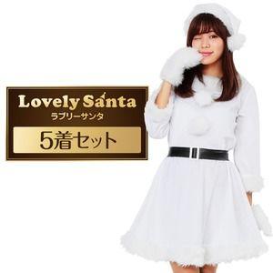 752027127a2f0 その他 サンタ コスプレ 白 ホワイト レディース <帽子&ベルト&手袋セット> まとめ買い
