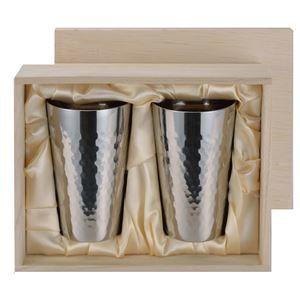 その他 チタン製 タンブラー/ビアカップ 【2PCセット】 日本製 ミラー仕上げ 2重カップ 『アサヒ』 〔カフェ バー〕 ds-1503880