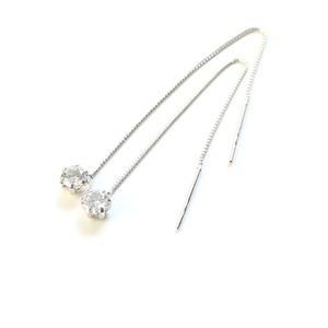 その他 プラチナ0.3ctダイヤモンド ショート アメリカンチェーンピアス ds-1520509