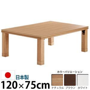 その他 楢天然木国産折れ脚こたつ 【ローリエ】 120×75cm こたつ テーブル 4尺長方形 日本製 国産 ブラウン ds-1204256