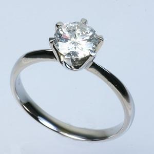 その他 プラチナPt900 1.0ct一粒ダイヤリング 指輪 (鑑別書付き) 9号 ds-1538432