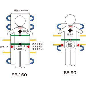 その他 松岡 施設用家具・備品 救護担架 (4)SB-90A ds-1556423