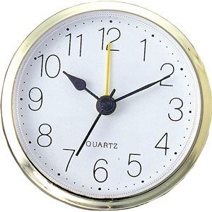 その他 (まとめ)アーテック 丸型時計 ゴールド アラーム付 【×15セット】 ds-1565448