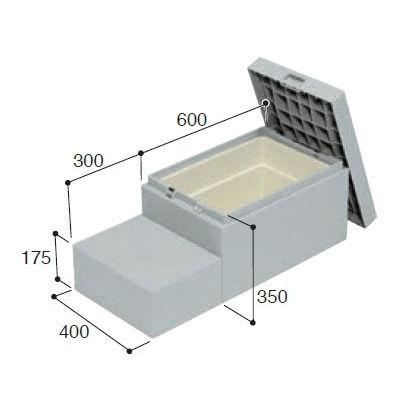 城東テクノ ハウスステップ ボックスタイプ 収納庫付 CUB-6040S