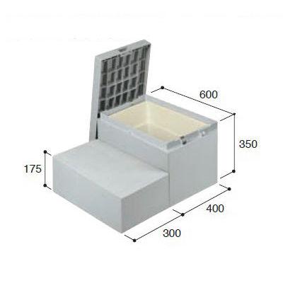 城東テクノ ハウスステップ ボックスタイプ 収納庫付 CUB-6040WS
