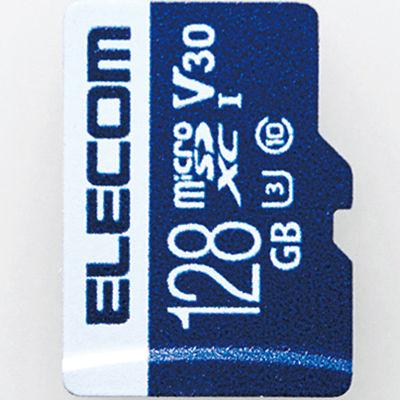 エレコム MicroSDXCカード/データ復旧サービス付/ビデオスピードクラス対応/UHS-I U3 80MB/s 128GB MF-MS128GU13V3R
