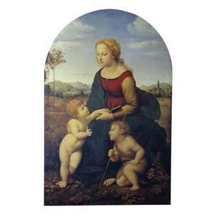 その他 世界の名画シリーズ、プリハード複製画 ラファエロ・サンティ作 「美しき女庭師の聖母」【代引不可】 ds-193537