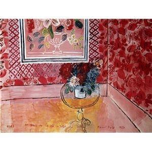 その他 世界の名画シリーズ、プリハード複製画 ラウル・デュフィ作 「30歳、またはばら色の人生」【代引不可】 ds-193554