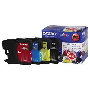 その他 (まとめ) ブラザー BROTHER インクカートリッジ お徳用 4色 LC11-4PK 1箱(4個:各色1個) 【×3セット】 ds-1572017