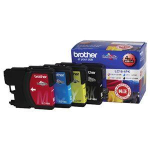 その他 (まとめ) ブラザー BROTHER インクカートリッジ お徳用 4色 LC16-4PK 1箱(4個:各色1個) 【×3セット】 ds-1572023