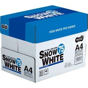 その他 (まとめ) TANOSEE PPC用紙 SNOW WHITE 75 A4 1箱(2500枚:500枚×5冊) 【×10セット】 ds-1572231