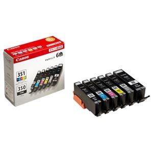 その他 (まとめ) キヤノン Canon インクタンク BCI-351+350/6MP 6色マルチパック 標準 6552B004 1箱(6個:各色1個) 【×3セット】 ds-1573358