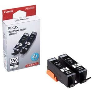 その他 (まとめ) キヤノン Canon インクタンク BCI-350XLPGBK2P ブラック 大容量 6552B005 1箱(2個) 【×3セット】 ds-1573360