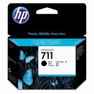 その他 (まとめ) HP711 インクカートリッジ ブラック 80ml 顔料系 CZ133A 1個 【×3セット】 ds-1578416