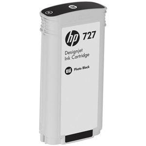 その他 (まとめ) HP727 インクカートリッジ 染料フォトブラック 130ml B3P23A 1個 【×3セット】 ds-1578440