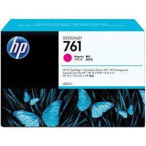 その他 (まとめ) HP761 インクカートリッジ マゼンタ 400ml 染料系 CM993A 1個 【×3セット】 ds-1578449