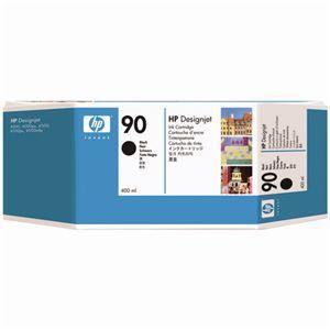 その他 (まとめ) HP90 インクカートリッジ 黒 400ml 顔料系 C5058A 1個 【×3セット】 ds-1578495