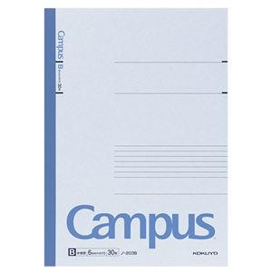 その他 (まとめ) コクヨ キャンパスノート(中横罫) A4 B罫 30枚 ノ-203B 1冊 【×50セット】 ds-1582081