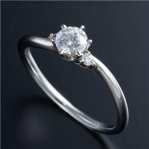 その他 Dカラー・VVS2・EX Pt0.3ct ダイヤリング 両側ダイヤモンド(鑑定書付き) 16号 ds-1608910