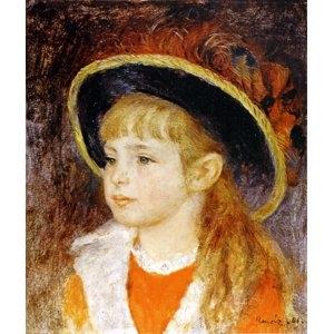 その他 世界の名画シリーズ、プリハード複製画 ピエール・オーギュスト・ルノアール作 「青い帽子の少女」【代引不可】 ds-1614315