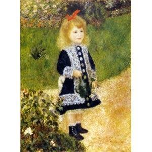 その他 世界の名画シリーズ、プリハード複製画 ピエール・オーギュスト・ルノアール作 「じょうろを持つ少女」【代引不可】 ds-1614319