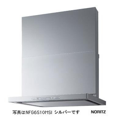 ノーリツ(NORITZ) スリム型ノンフィルターレンジフード(コンロ連動60cmタイプ)ダクト位置L(左) ステンレス NFG6S10MST-L