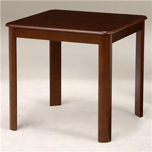 その他 ダイニングテーブル 【正方形/ブラウン】 木製 天板:オーク突板 幅75cm×奥行75cm 木目調【代引不可】 ds-1629352