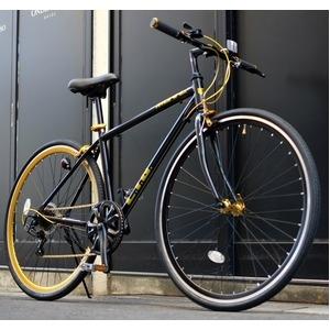 その他 クロスバイク 700c(約28インチ)/ブラック(黒) シマノ7段変速 重さ/ 12.0kg 軽量 アルミフレーム 【LIG MOVE】 ds-1634465