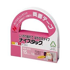 その他 (まとめ) ニチバン ナイスタック 両面テープしっかり貼れてはがせるタイプ (1.5cm×18m) 【×20セット】 ds-1640934