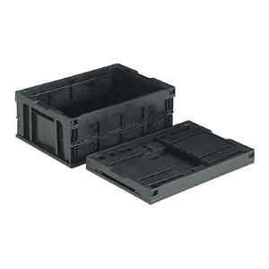 その他 三甲(サンコー) 折りたたみコンテナボックス/オリコン 【54L】 導電 55B ブラック(黒) ds-1646904
