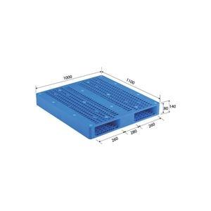 その他 三甲(サンコー) プラスチックパレット/プラパレ 【両面使用型】 段積み可 R2-1011 ブルー(青)【代引不可】 ds-1647384
