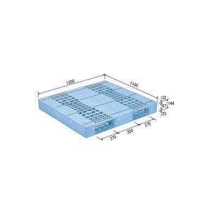 その他 三甲(サンコー) プラスチックパレット/プラパレ 【片面使用型】 軽量 D2-1112F ライトブルー(青)【代引不可】 ds-1647475