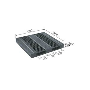 その他 三甲(サンコー) プラスチックパレット/プラパレ 【両面使用型】 段積み可 R2-1313F-3 ブラック(黒) ds-1647521