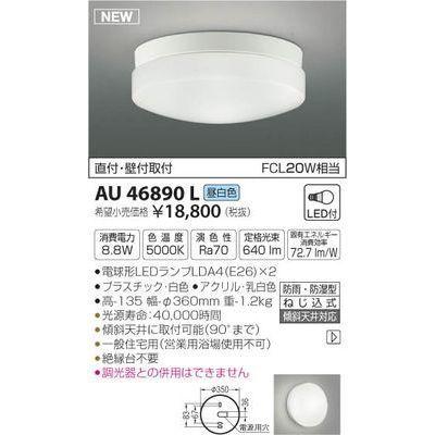 コイズミ LED防雨防湿型CL AU46890L